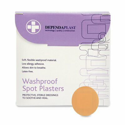 Reliance Medical - Dependaplast - 2.5cm Round Wash Proof Spot Plasters x 100