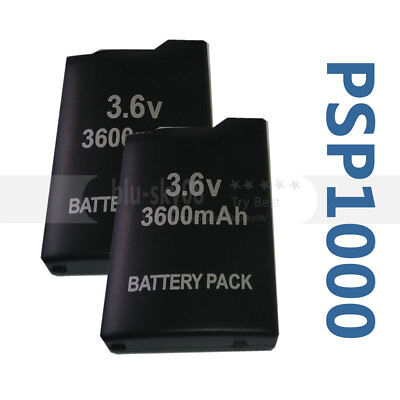2X New 3600mAh Rechargeable Battery for Sony PSP 1000 1001 Series Battery