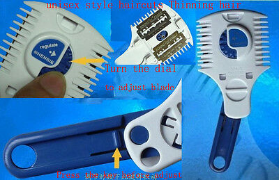 HAIRDRESSING RAZOR -HAIR CUT THINNING, FEATHERING, TRIMMING METAL WITH 2 BLADES