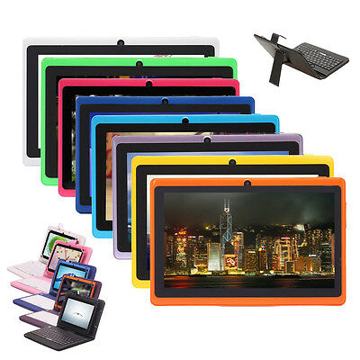"""iRulu eXpro X1 7"""" Android 4.2 Dual Core & Cam 8GB Multi-Color Tablet w/ Keyboard"""