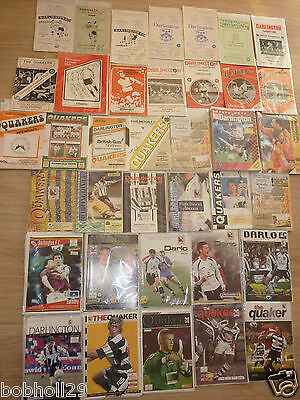 Darlington  Home Programmes  1960's onwards.  Select from list Updated 22/7/16