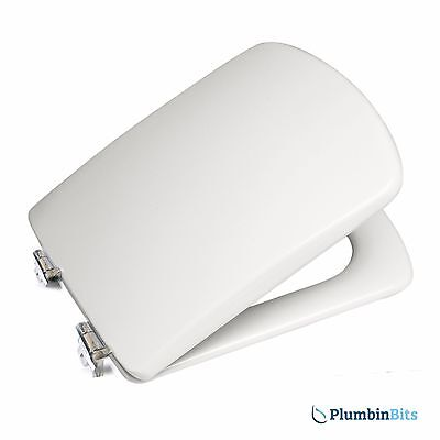 ROCA SIDNEY REPLACEMENT TOILET SEAT & COVER cw SOFT CLOSE HINGES 801382004 WHITE