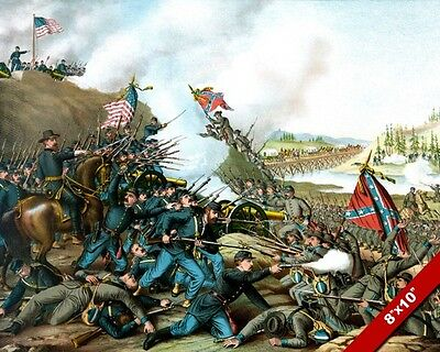 The Battle Of Franklin Tn Us Civil War Oil Painting Art Real Canvas Giclee Print