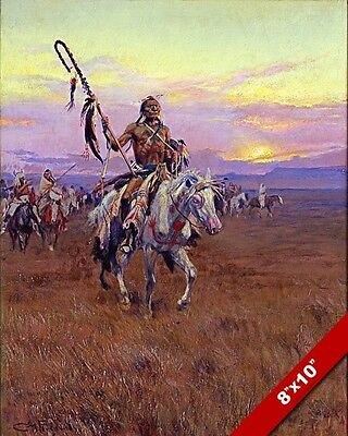 Native American Indian Medicine Man Oil Painting Art Real Canvas Giclee Print