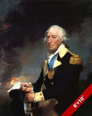 American Revolution General Horatio Gates Oil Painting Art Real Canvas Print