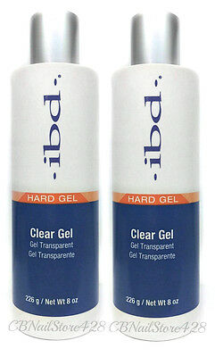 IBD UV CLEAR Nail Gel  8oz/226g # 60308 - LOT OF 2
