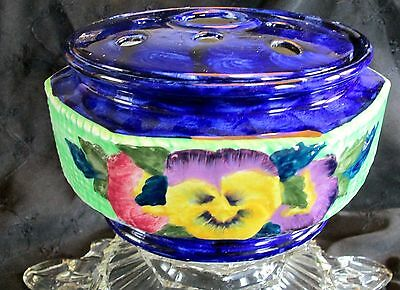 Large Maling pansy flower vase for Ringtons