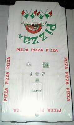 Pizzakarton, Pizzabox mit Motiv 28x28x3 cm 200 Stück- Italien - Party -Pizza