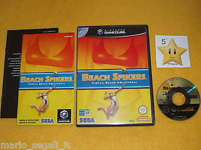 BEACH SPIKERS VIRTUA BEACH VOLLEYBALL Nintendo Game Cube Ver. ITALIANA  COMPLETO