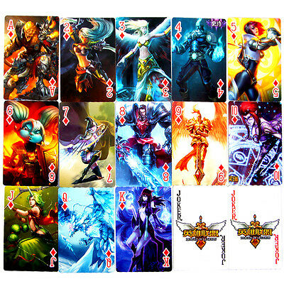 54pcs A Deck of Pokers League of Legends Character Design Playing Cards New Rare