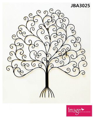 Modern Vintage Style Wall Art Mounted Home Decor Decorative Metal Tree JBA3025