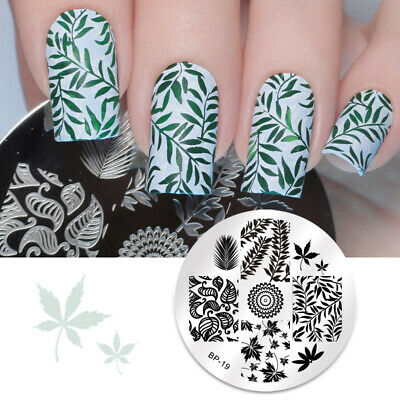 Nagel Schablone BORN PRETTY Nail Art Stamp Stamping Template Plates 19