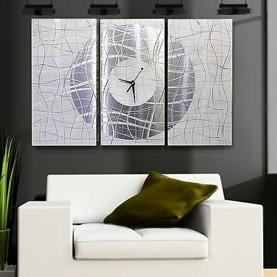 Abstract Hand-Painted Metal Wall Clock Art - Contemporary Vibrations - Jon Allen