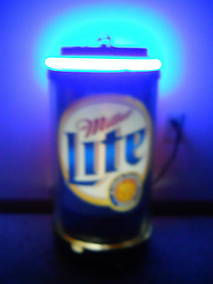 Large Collectible Vintage Can Like Miller Lite Rotating Neon Beer Hanging Light