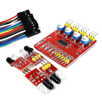 1Pcs 4 Channel Infrared Detector Tracked Photoelectricity Sensor Module  Hot Sal