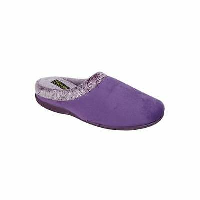 Sleepers LS319 DONNA Pink Ladies Warm Fleece Lined Comfy Spotted SlipOn Slippers