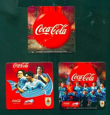 3 COASTERS LIMITED EDITION COCA COLA AMERICAN CUP FOOTBALL FROM URUGUAY