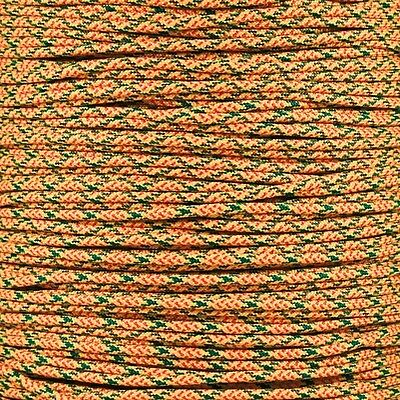 Peppers 550 Paracord Type III 7 strand parachute cord 100 ft Woven Yellow