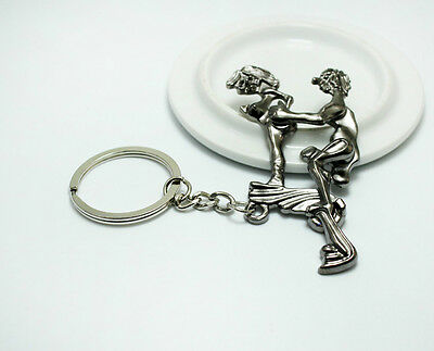 HOT Male and female human body performance art movable metal key chain gift G