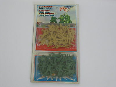 "RARE-1972 Mego ""44 PIECE ACTION SOLDIERS""(small figures) New In Package"
