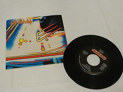 Def Leppard Pour Some sugar on me ring of fire 45 1987 Album RARE Record vinyl