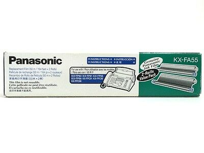 Genuine Panasonic KX-FA55 Fax Replacement Film 2 - Roll Value Pack