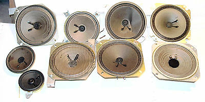 Lot of 9 Small Speakers from Various Electonics