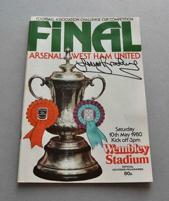 Trevor Brooking Signed West Ham United 1980 FA Cup Final Programme Autograph COA