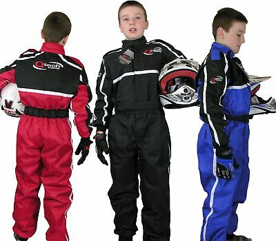 Childrens Kids RACE SUIT Overalls Karting Motocross Racing One Piece Dirt Bike