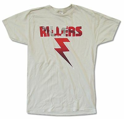 The Killers Canadian Bolt Ivory White T Shirt New Official Band