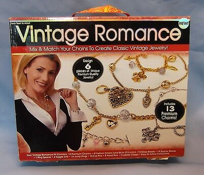 Vintage Romance Classic Jewelry Making Kit Design 6 Pieces Includes 13 Charmes