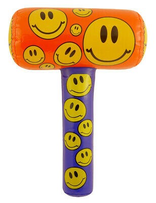 Inflatable Smiley Mallet - 48cm - Pinata Toy Loot/Party Bag Hammer Wedding/Kids