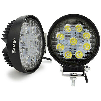 Safego 2x 27W LED Work Light Flood Offroad Driving Lamp 4X4 Boat ATV Trucks 18W