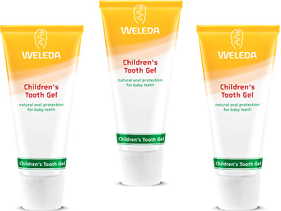3 x 50ml WELEDA Childrens Tooth Gel ( natural protection for baby / milk teeth )