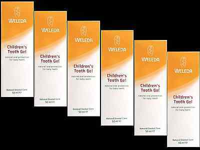 6 x 50ml WELEDA Childrens Tooth Gel ( natural protection for milk teeth )