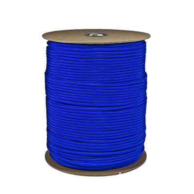 Electric Blue Paracord 1000 FT Spool 550 Parachute Cord 7 Strand Type III