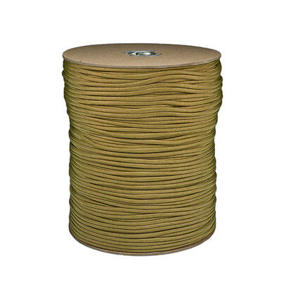 Gold Paracord 1000 FT Spool 550 Parachute Cord 7 Strand Type III