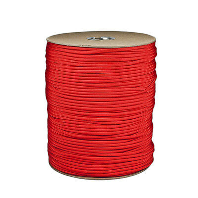 Imperial Red Paracord 1000 FT Spool 550 Parachute Cord 7 Strand Type III