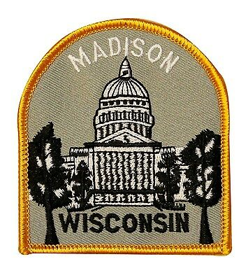 Madison Wisconsin Travel  Souvenir Iron On Badge Applique Patch