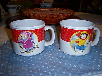 CAMPBELLS SOUP 2002 WINTER OLYMPICS (2) MUGS SKIER AND SKATER
