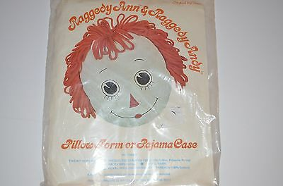 Vintage 1976 Raggedy Ann & Raggedy Andy Pillow Form or Pajama Case New Sealed