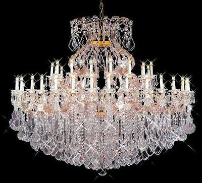 New! Crystal Chandelier Maria Theresa 24k Gold 72X60