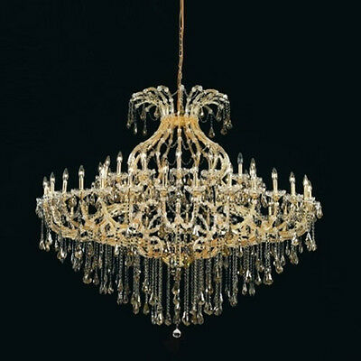 New Crystal Chandelier Maria Theresa Gold 49Light 72X60