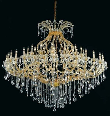 New Crystal Chandelier Maria Theresa Gold 49 Lts 72X60