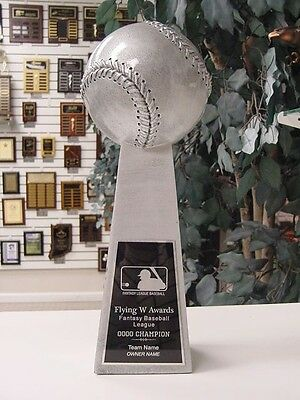"Small Lombardi Style Fantasy Baseball Individual Trophy 9 1/2"" Tall C*rxb11"