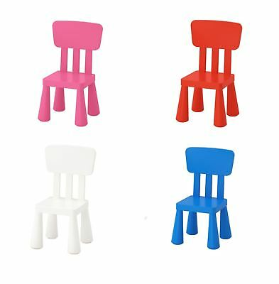 IKEA MAMMUT Chair Children's Kids Plastic Blue Pink Green 402.675.54