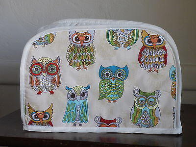 Owls  , 4 Square Appliance Toaster Cover,  New