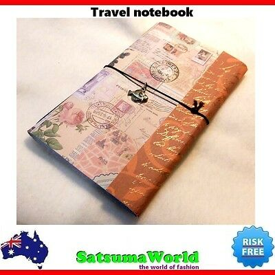 Journal Travel Diary Girls Notebook vintage cahier hot stationery rope binded