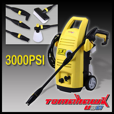 NEW TOMAHAWK USA 3200PSI High Pressure Washer - Electric Gurney Water Cleaner