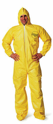 Dupont Tychem Tyvek QC QC122S Chemical Hazmat Suit SMALL YELLOW NEW SIZE SM NEW
